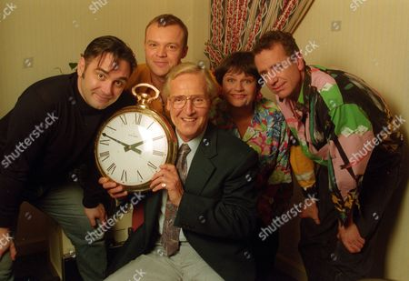 Tony Slattery, Graham Norton, Nicholas Parsons, Ann Bryson and Arthur Smith