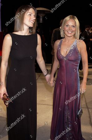 GERI HALLIWELL WITH HER SISTER NATALIE JENNINGS