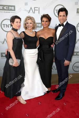 Vanessa Vadim, Jane Fonda, Simone Bent and Troy Garity