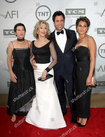Vanessa Vadim, Jane Fonda, Troy Garity and Simone Bent