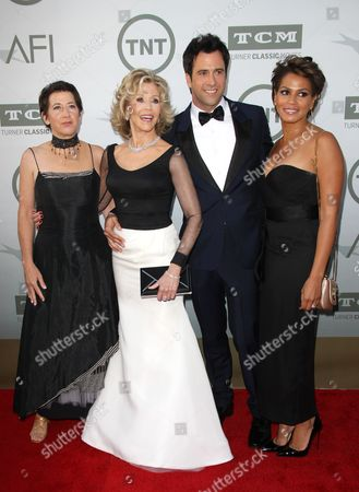 Stock Image of Vanessa Vadim, Jane Fonda, Troy Garity and Simone Bent