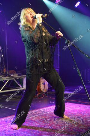 Minehead United Kingdom - February 9: English Blues Rock Vocalist Deborah Bonham Performing Live On Stage At The Giants Of Rock Festival In Minehead Somerset On February 9