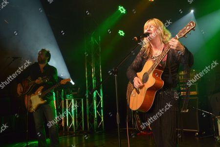 Stock Photo of Minehead United Kingdom - February 9: English Blues Rock Vocalist Deborah Bonham Performing Live On Stage At The Giants Of Rock Festival In Minehead Somerset On February 9