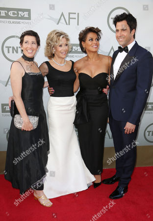 Stock Photo of Vanessa Vadim, Jane Fonda, Simone Bent and Troy Garity