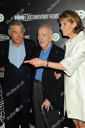 Stock Picture of Robert De Niro, Paul Resika and Perri Peltz