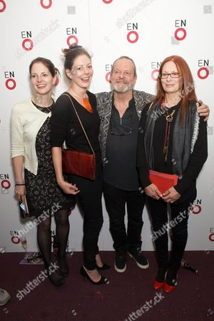 Stock Photo of Holly Gilliam, Amy Gilliam, Terry Gilliam and wife Maggie Gilliam