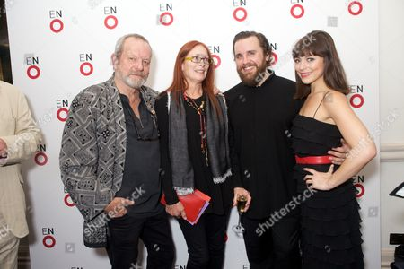 Terry Gilliam and wife Maggie Gilliam, Michael Spyres and Corinne Winters