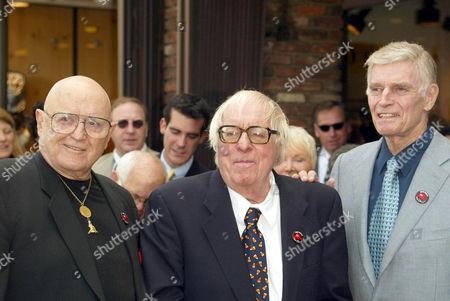 ROD STEIGER, RAY BRADBURY AND CHARLTON HESTON