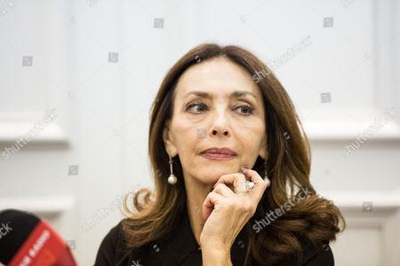Actress Maria Rosaria Omaggio during photocall
