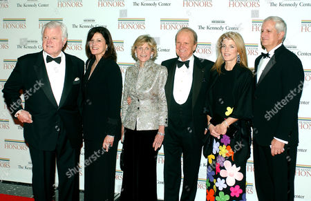 From left: United States Senator Edward M. Kennedy, his wife Victoria, his sister Jean Kennedy Smith, George Stevens Jr., the founder and producer of the Kennedy Center Honors, Caroline Kennedy Schlossberg and her husband Edwin Schlossberg arrive at the Department of State.