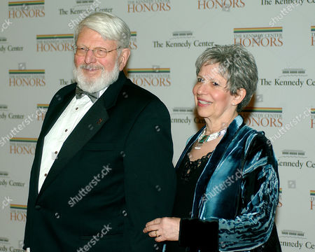 Theodore Bikel and Tamara Brooks arrive at the Department of State.