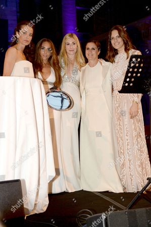 Julie Brangstrup, Chloe Green, Kate Ryan, Maria Grazia Chiuri and Guest.