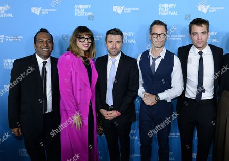 Jess Scully, Festival Director of Vivid Ideas, and Nashen Moodley, Sydney Film Festival Director with Guy Pearce, David Michod and Robert Pattinson