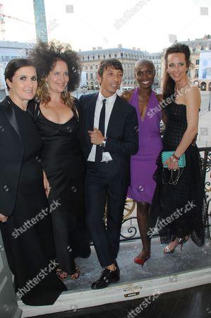 Maria Grazia Chiuri, Lisa Lovatt-Smith, guest, Tiffany Persons and Julie Brangstrup