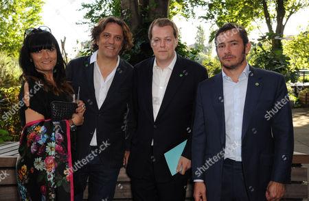 Plaxy Locatelli, Giorgio Locatelli, Tom Parker Bowles and Giles Coren
