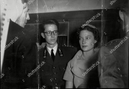 Royal Bride 25 Year-old Princess Josephine Charlotte With Her Brother King Baudouin Of Belgium Pictured At Kleinbettingen On The Belgium-luxembourg Border.
