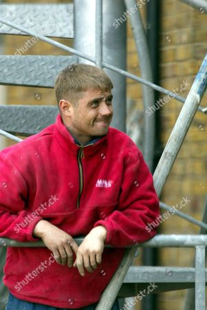 EX 'GRANGE HILL' AND 'LONDON'S BURNING' STAR JOHN ALFORD, WHO SPENT TIME IN PRISON FOR DRUG DEALING, NOW WORKING AS A BUILDER IN CENTRAL LONDON