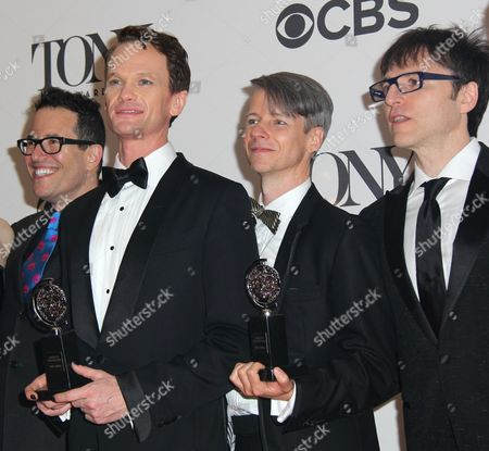 Michael Mayer, Neil Patrick Harris, Stephen Trask and guest