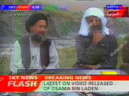 VIDEO RELEASED AT END OF APRIL 2002 OF OSAMA BIN LADEN WITH HIS DEPUTY AYMAN AL ZAWAHIRI.