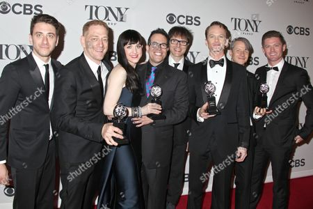 David Binder, Lena Hall, Neil Patrick Harris and the cast of 'Hedwig and the Angry Inch'