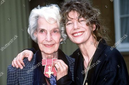Stock Image of JANE BIRKIN AND MOTHER JUDY CAMPBELL