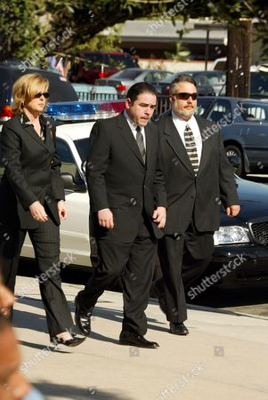 Editorial picture of FUNERAL OF ROBERT URICH AT ST CHARLES CHURCH IN CALIFORNIA,  AMERICA - 19 APR 2002
