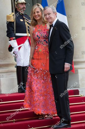 French CEO of LVMH Group Bernard Arnault and his wife, Helene Arnault arrives for the state dinner. Britain's state dinner at the Elysee presidential palace. Paris, FRANCE-06/06/2014./MEIGNEUX_meigneuxA035/Credit:ROMUALD MEIGNEUX/SIPA/1406070053