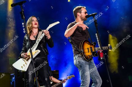 Lzzy Hale and Eric Church