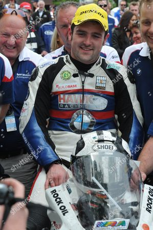 Michael Dunlop after winning the Senior race