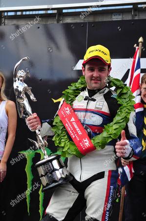Michael Dunlop after winning TT Superbike race