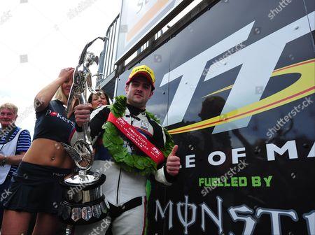 Michael Dunlop with Senior TT trophy