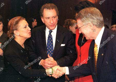 Author Danielle Steele with United States Senator Harry Reid and U.S. Senator Arlen Specter
