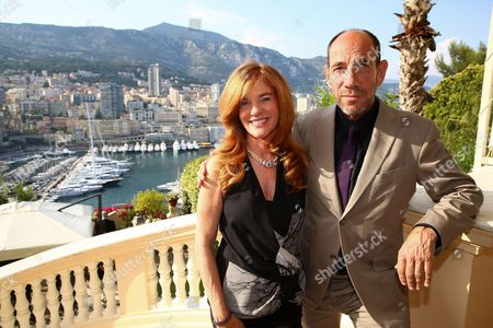 Stock Photo of Lori Weintraub and Miguel Ferrer