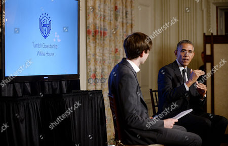 President Barack Obama and Tumblr Founder and CEO David Karp