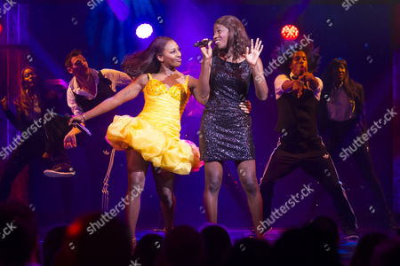 Alexandra Burke (Rachel Marron) and Carole Stennett (Nicki Marron)