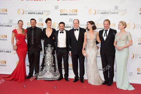 A.J. Cook, Justin Chambers, Bellamy Young, Nick Wechsler, Prince Albert II of Monaco, Ana Ortiz, Jeff Perry and Jennifer Morrison