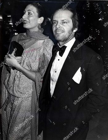 Editorial picture of Jack Nicholson And Angelica Huston Arrive At The Hyde Park Ballroom For Lord Lichfield's Party.