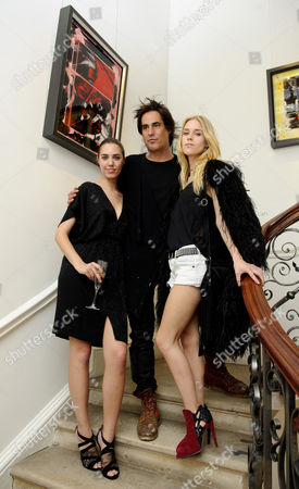 Stock Photo of Amber Le Bon, Raphael Mazzucco and Mary Charteris