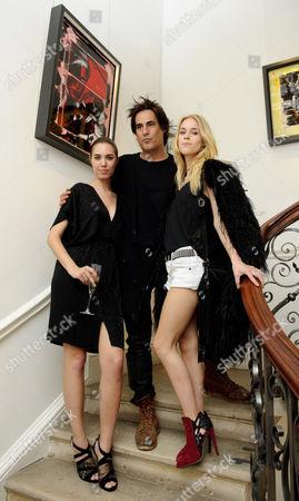 Amber Le Bon, Raphael Mazzucco and Mary Charteris