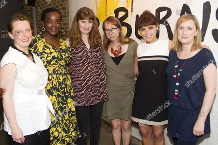 Stock Image of Adey Grummet (Mrs Krabappel), Wunmi Mosaku (Quincy), Justine Mitchell (Jenny), Anna Washburn (Author), Annabel Scholey (Maria) and Jenna Russell (Colleen)