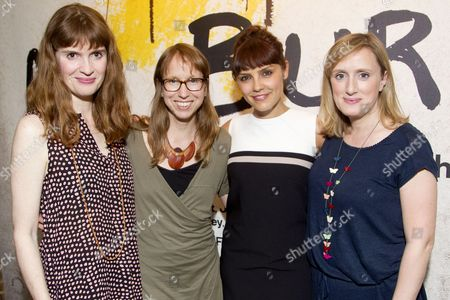 Stock Photo of Justine Mitchell (Jenny), Anna Washburn (Author), Annabel Scholey (Maria) and Jenna Russell (Colleen)