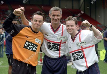 ANT AND DEC WITH IAN RUSH