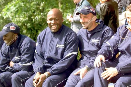 JOHN REGIS WITH GIANLUCA VIALLI