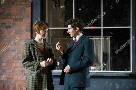 Jodie McNee (Maggie Hobson) and Karl Davies (Will Mossop)