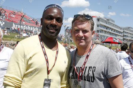 Athlete Derek Redmond and Shane Richie