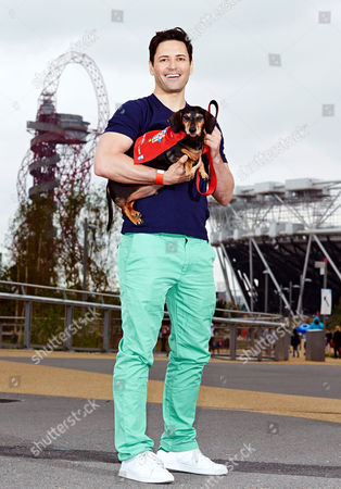 Editorial image of Famous faces back Dogs Unite, a mass sponsored dog walk, for Guide Dogs at Queen Elizabeth Olympic Park, London, Britain - 14 Jun 2014
