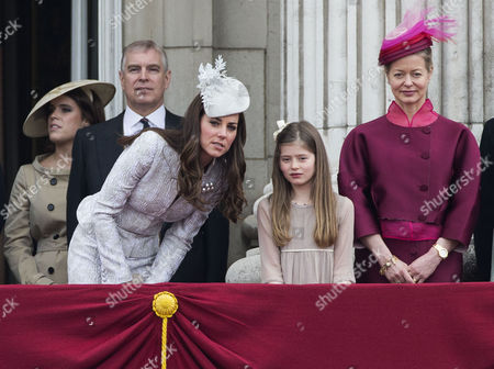 Prince Eugenie, Prince Andrew, Catherine Duchess of Cambridge, Estella Taylor and Lady Helen Taylor