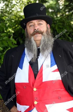Mike Ripley from Ripley aged 52 taking part in the Collett Day Festival beard competition