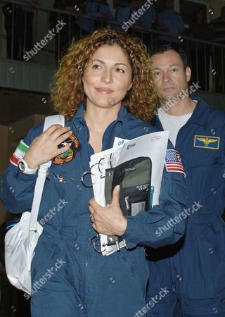 Moscow region, Russia, August 23, 2006, american entrepreneur and space tourist anousheh ansari and american astronaut michael lopez-alegria are seen during the training of the main and back-up crew of the 14th expedition to international space station (iss) in zvezdny gorodok (star city and cosmonauts training centre).