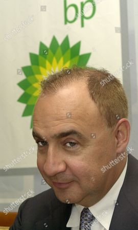 President of access industries leonard blavatnik takes part in a press conference dedicated to the activities of the tnk-bp company in Moscow on friday, September 12, 2003.